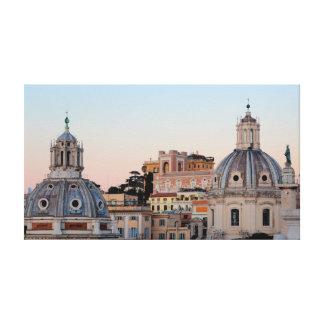 Rome skyline at sunset canvas print