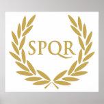 Rome SPQR Roman Senate Seal Poster