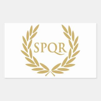 Rome SPQR Roman Senate Seal Rectangular Sticker