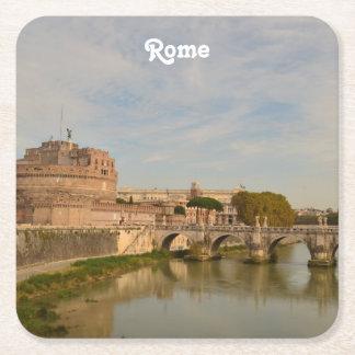 Rome Square Paper Coaster