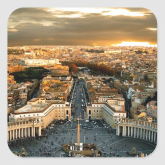 Rome Square Sticker