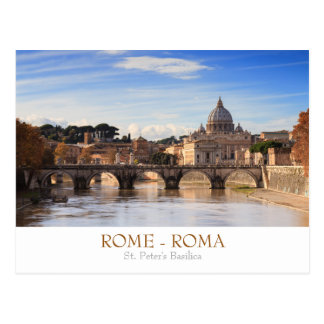 Rome - St. Peter's Basilica postcard with text