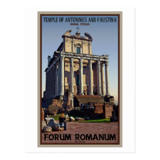 Rome - Temple of Antoninus and Faustina Postcard