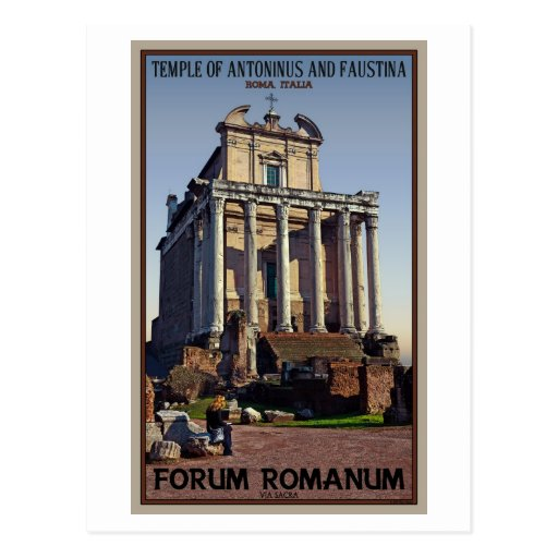 Rome - Temple of Antoninus and Faustina Post Card