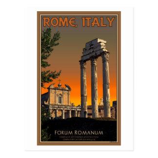 Rome - Temple Ruins in Forum Romanum Postcard
