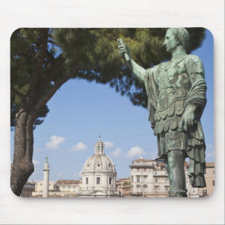 Rome, the Forum, statue of Cesar Mouse Pad