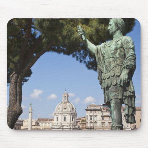 Rome, the Forum, statue of Cesar Mousepad