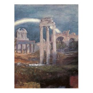 Rome, The Forum with a Rainbow by William Turner Postcard