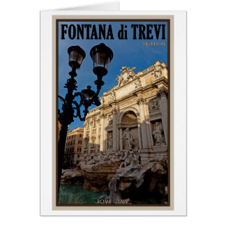 Rome - Trevi Fountain Card