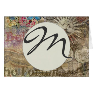 Rome Vintage Italy Designer Travel Monogram Card