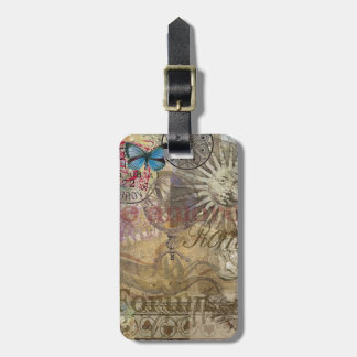 Rome Vintage Italy Travel Collage Luggage Tag
