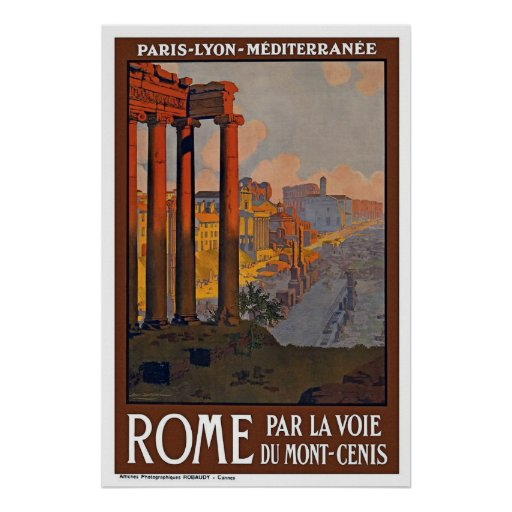 """""""Rome Vintage Travel"""" Posters"""