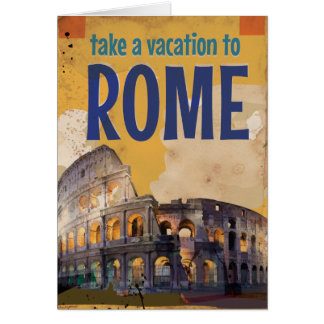 Rome Vintage Travel poster Card