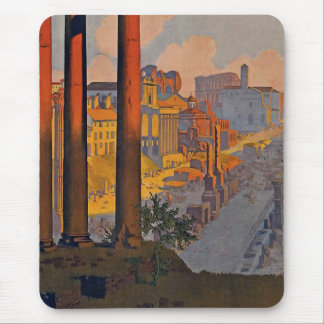 """Rome"" Vintage Travel Poster Mouse Mat"