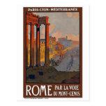 """Rome"" Vintage Travel Poster Postcard"