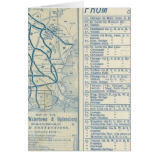 Rome, Watertown and Ogdensburg Railroad Card