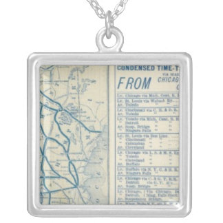Rome, Watertown and Ogdensburg Railroad Silver Plated Necklace