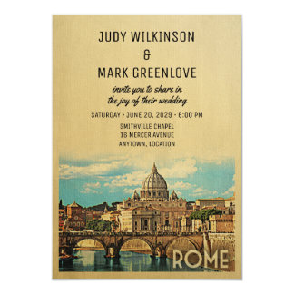 Rome Wedding Invitation Italy