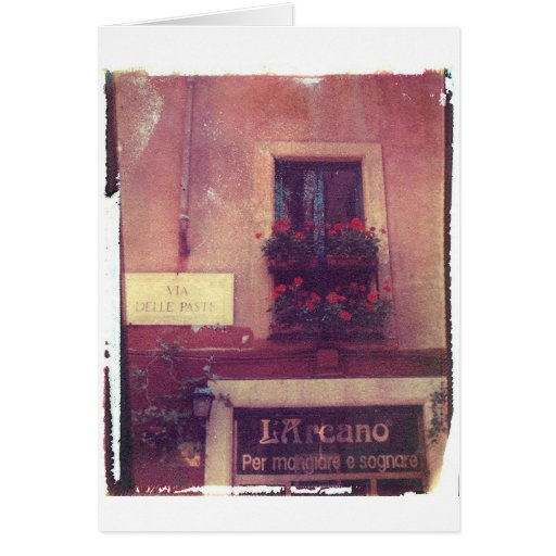Rome Window with Geraniums Greeting Card
