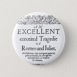 Romeo and Juliet 6 Cm Round Badge