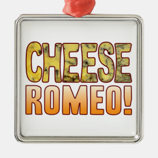 Romeo Blue Cheese Silver-Colored Square Decoration