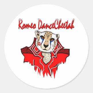 Romeo Dance Cheetah Stickers