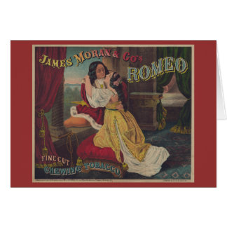 Romeo Fine Cut Chewing Tobacco Greeting Card