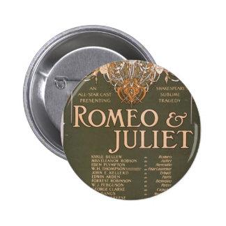 Romeo & Juliet, 'Liebler & Co' Retro Theater 6 Cm Round Badge