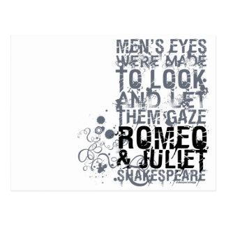 Romeo & Juliet Men Quote Postcard