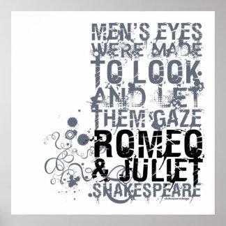 Romeo Juliet Men Quote Poster