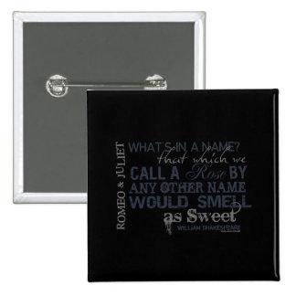 Romeo & Juliet Name Quote 15 Cm Square Badge