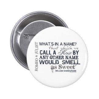 Romeo & Juliet Name Quote 6 Cm Round Badge