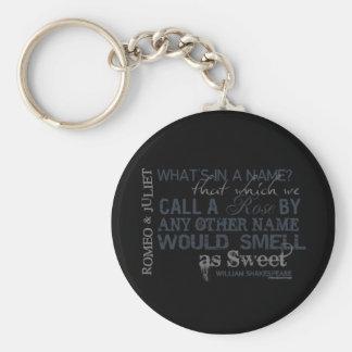 Romeo & Juliet Name Quote Key Ring