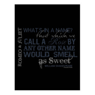 Romeo & Juliet Name Quote Postcard