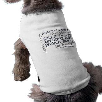 Romeo & Juliet Name Quote Sleeveless Dog Shirt