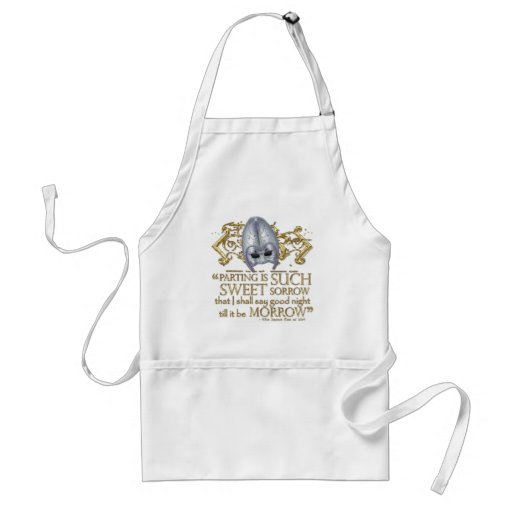 Romeo & Juliet Quote (Gold Version) Aprons