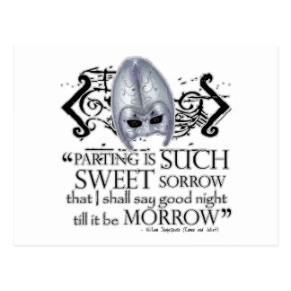 Romeo Juliet Quote Post Card