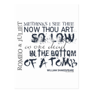 Romeo & Juliet Tomb Quote Postcard