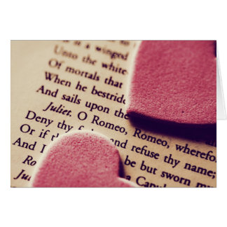 Romeo oh romeo hearts card
