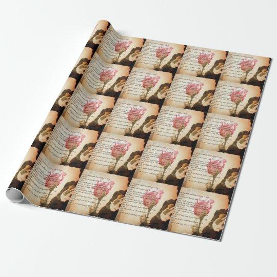 Romeo Poem Valentine Wrapping Paper