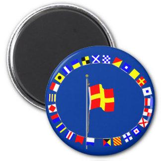 "Romeo ""R"" Nautical Signal Flag Magnet"