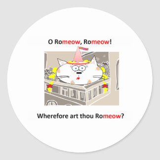 Romeow Classic Round Sticker