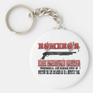 Romero's Zombie Extermination Specialists Basic Round Button Key Ring