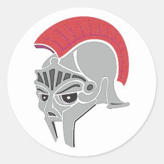 Römischer Helm Roman helmet Runder Sticker