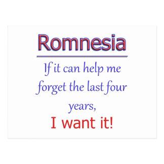 Romnesia - Help Me Forget Postcard