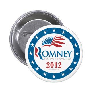 Romney 2012 6 cm round badge