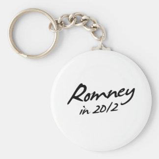ROMNEY 2012 Autograph Basic Round Button Key Ring