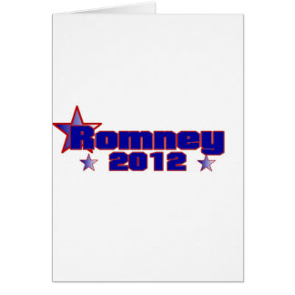 Romney 2012 greeting card