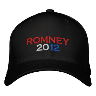 Romney 2012 embroidered hats