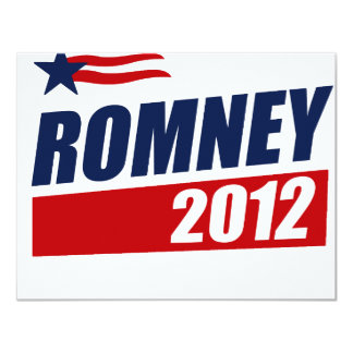 ROMNEY 2012 PERSONALIZED INVITATIONS